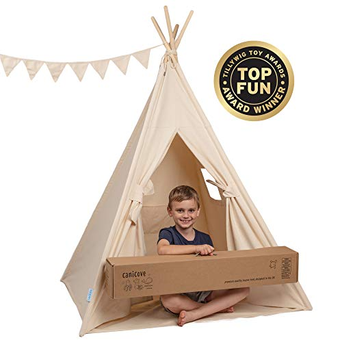 Canicove Tipi Zelt Für Kinder - Faltbares Indoor & Outdoor Set Baumwolle...