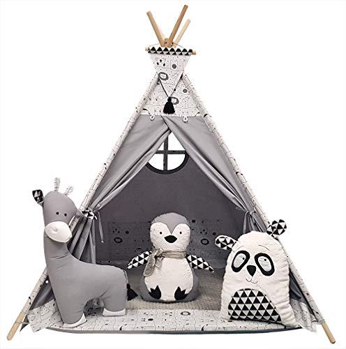 Izabell Kinder Spielzelt Teepee Tipi Set für Kinder drinnen draußen Spielzeug...