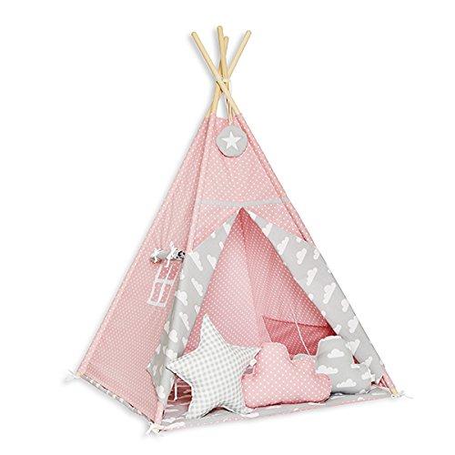 FUNwithMUM Tipi Zelt Spielzelt Teepee Fur Kinder Indianer Wigwam Kinderzimmer...