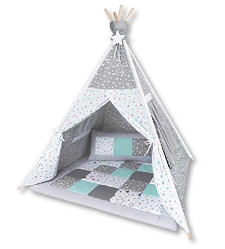 Amilian® Tipi Spielzelt Zelt für Kinder T41 (Spielzelt mit der Tipidecke und...