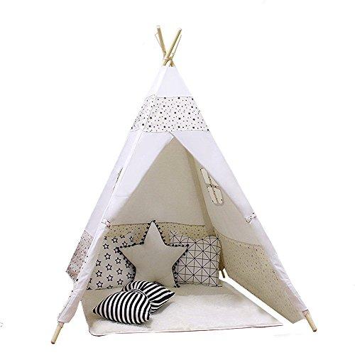 ACTNOW Kinder Zelt Indian Spielzelt Spielhaus für Kinder für Outdoor und...