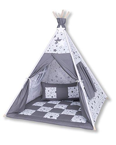Amilian® Tipi Spielzelt Zelt für Kinder T27 (Spielzelt mit der Tipidecke und...