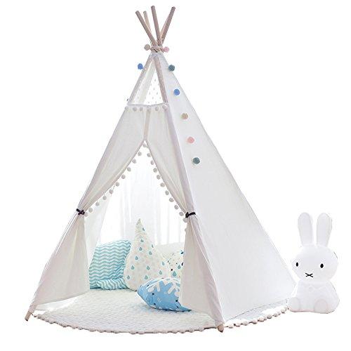 little dove Indianerzelt Tipi Zelt Spielhaus Spielzelt Kinderzelt Baumwolle (mit...