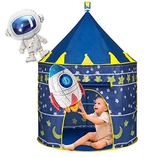 Joyjoz Kinder Spielzelt mit 2 Luftballons, Raumschiff Kinderspielzelt für...