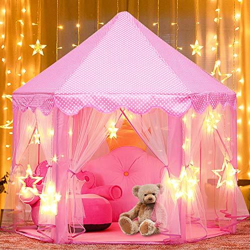 Kinderspielzelt, joylink Mädchen Prinzessin Zelt mit Sternen Innen & Draussen...