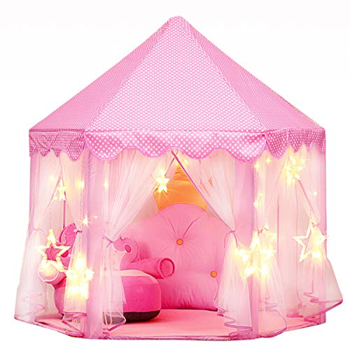 Joylink Kinderspielzelt, Prinzessin Castle Spielzelt für Kinder mit Sternen,53...