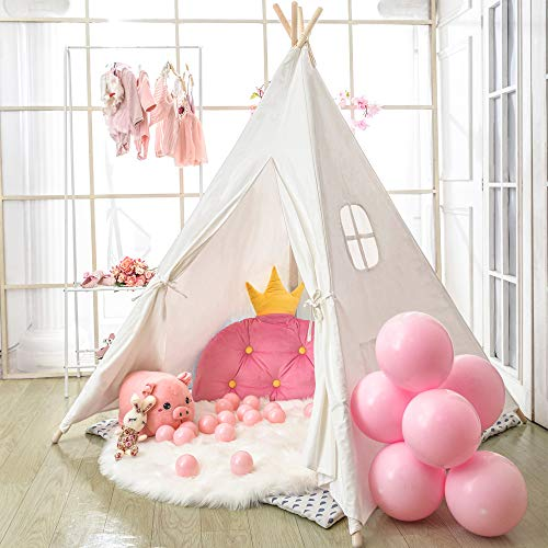 Tipi Zelt für Kinder - Faltbares Kinderspielzelt für Jungen mit Tragetasche -...